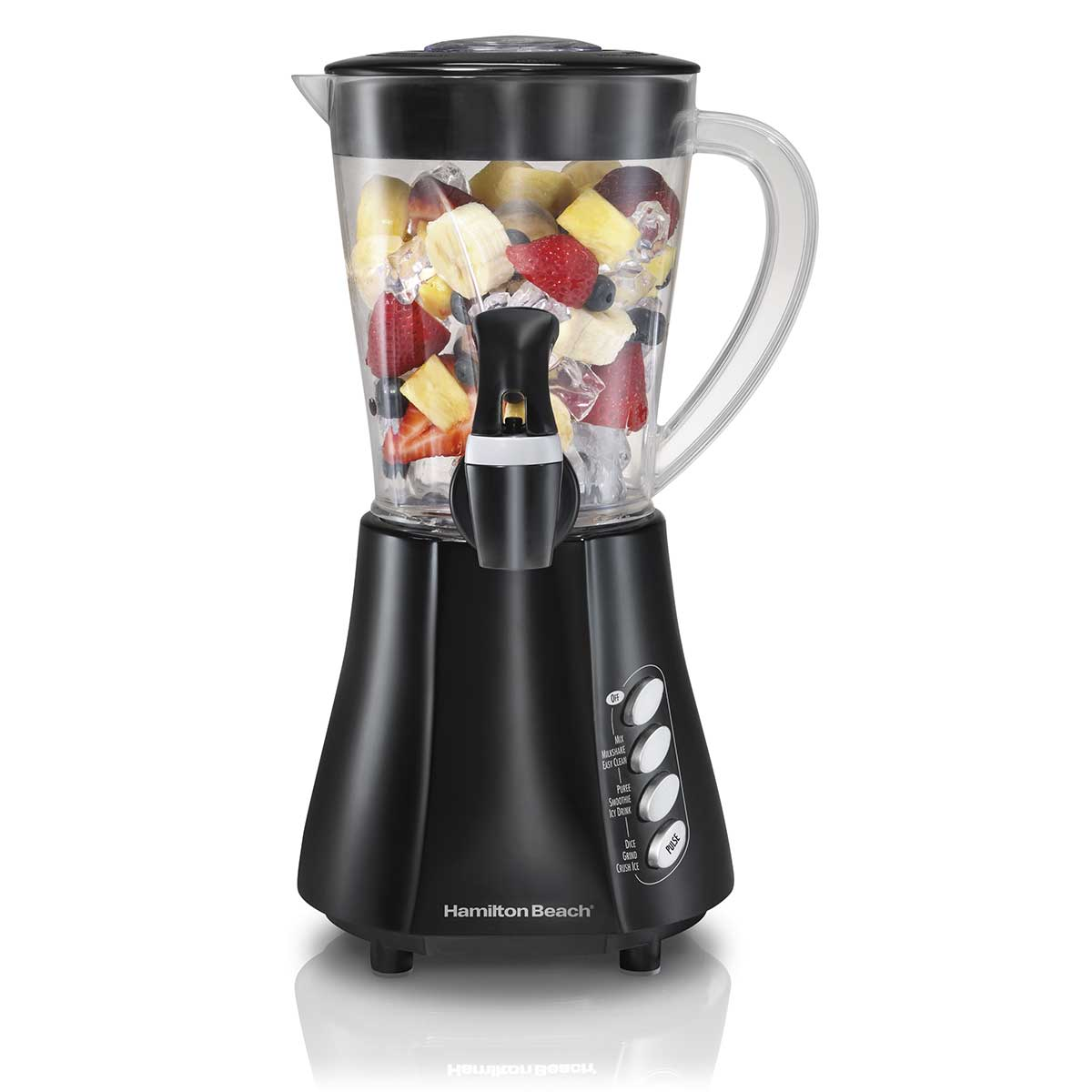Wave Station® Blender with 48oz Plastic Jar Dispensing Spout, 500W Black (58615)
