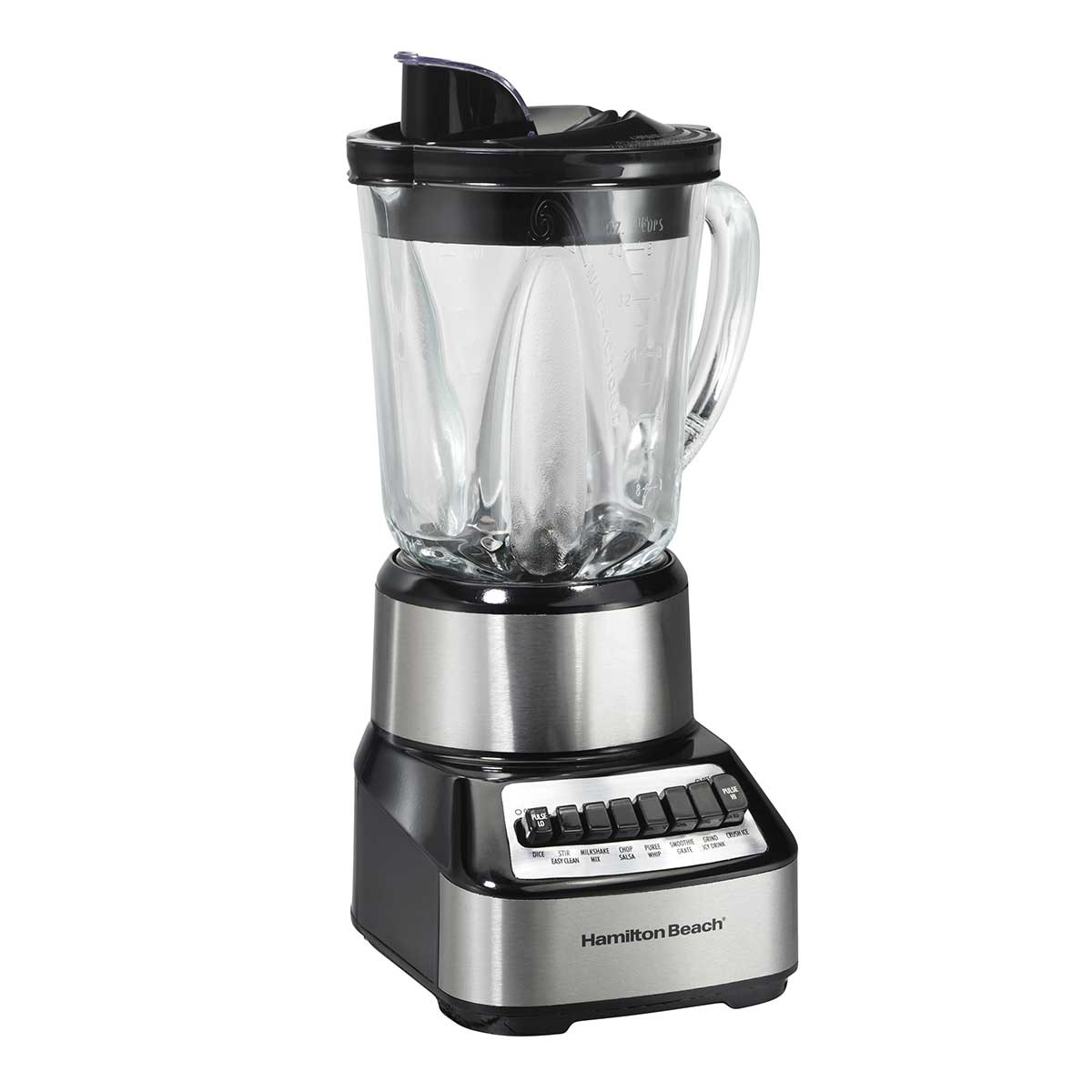 Wave Crusher® Multi-Function Blender with Mess-free 40oz Glass Jar, 700W Black & Stainless (54221)