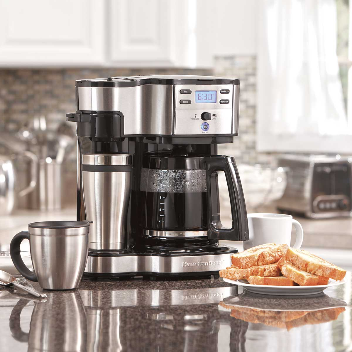 Hamilton Beach 2 Way Coffee Maker With 12 Cup Carafe Pod Brewing