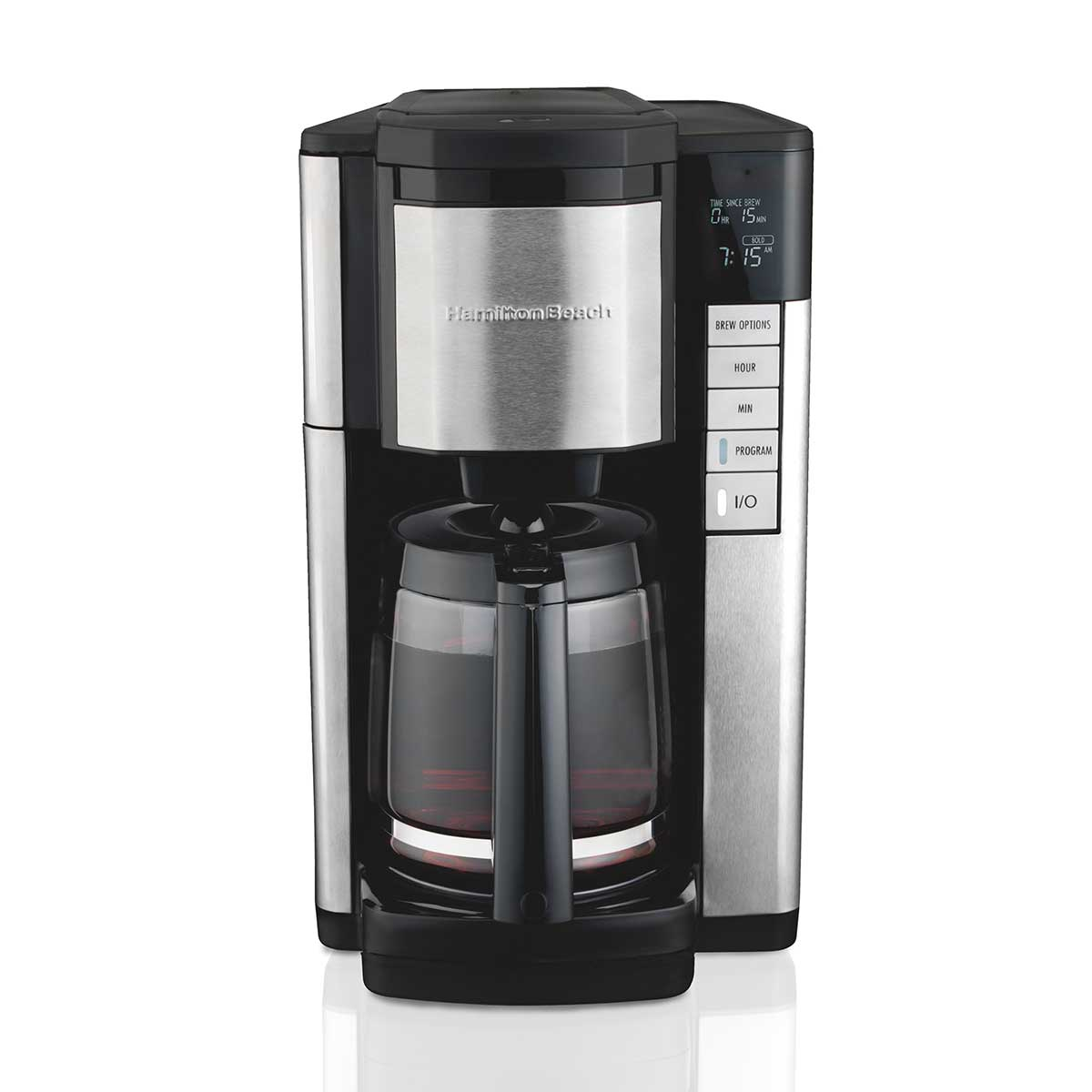 12-Cup Programmable Coffee Maker with FrontFill™, Black & Stainless (46381)