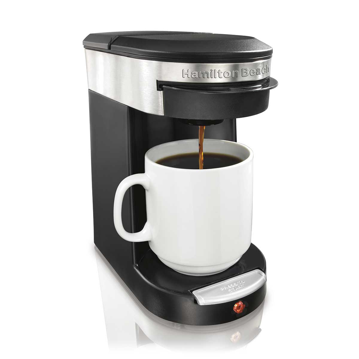 1-Cup Coffee Maker for Coffee Pods, Black (49970)