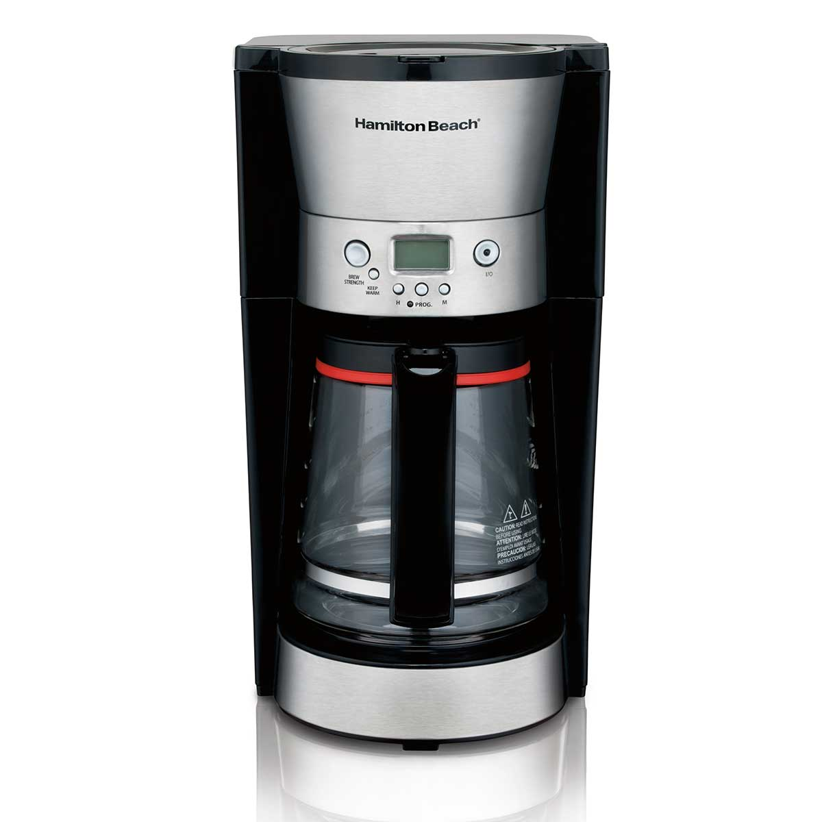 12-Cup Programmable Coffee Maker with Cone Filter, Black & Stainless (46895)