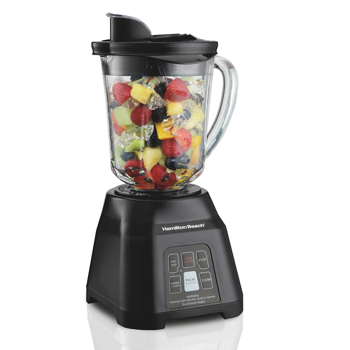 Digital Smoothie Blender 5 Functions with 40oz Glass Jar, 700W Black (56207)