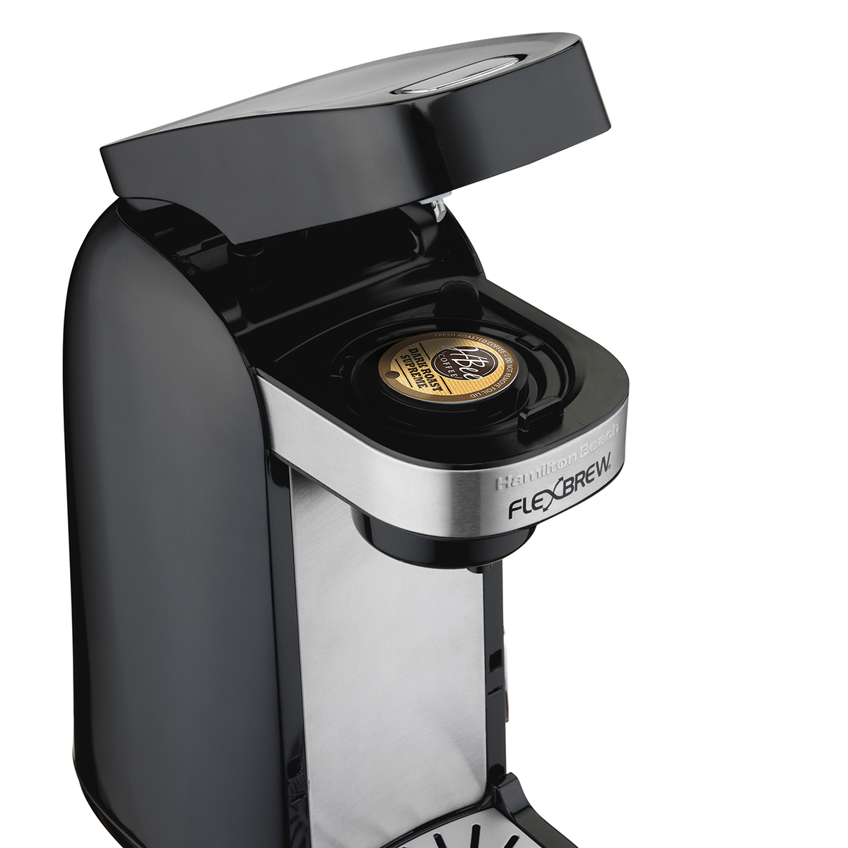 flexbrew coffee maker with a k-cup pod