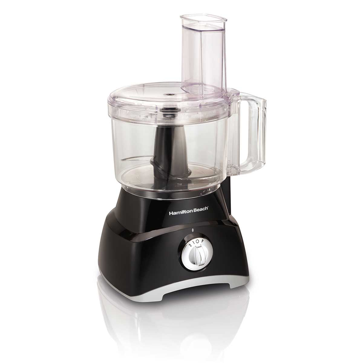 8-Cup Food Processor with Compact Storage, 2 Speeds, Black  (70740)