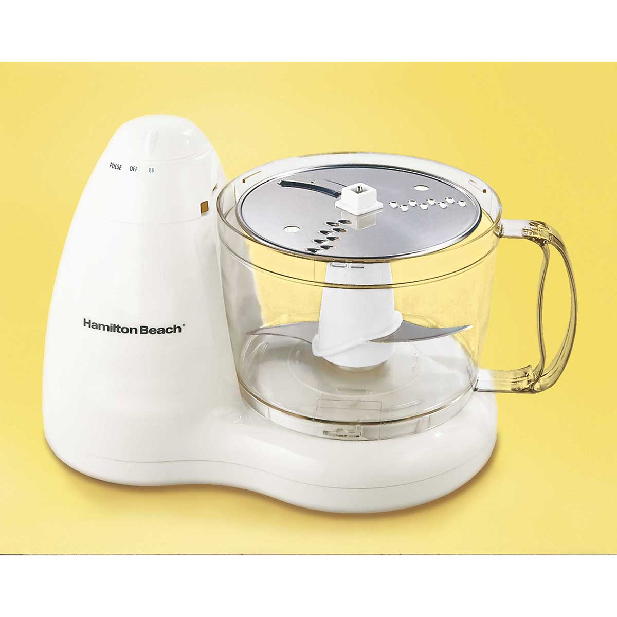 8-Cup Food Processor with 2 Speeds plus Pulse, White (70450)