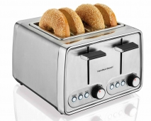 Modern Chrome 4 Slice Toaster (24791)