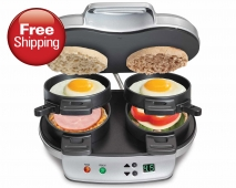 Dual Breakfast Sandwich Maker (25490)