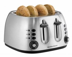 Metal 4 Slice Toaster/Bagel Toaster (24504)