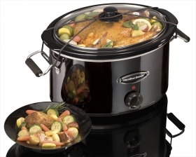 Black Ice™ Metal Collection 7 Quart Slow Cooker (33173)