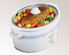 7 Quart Oval Slow Cooker With Travel Case (33690BV)