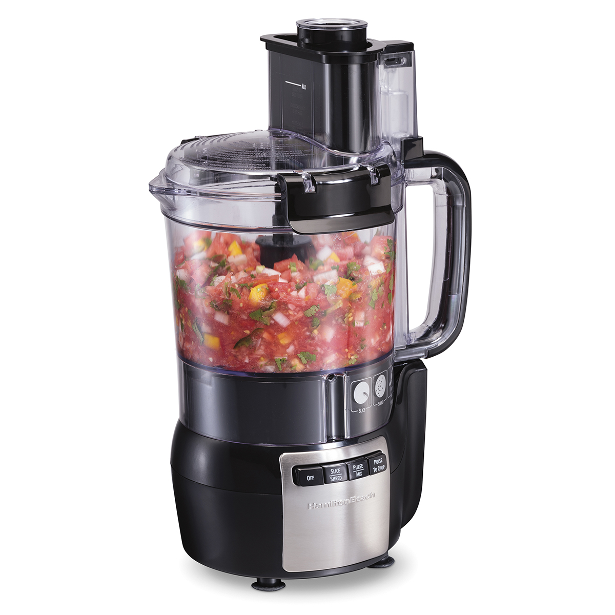 12 Cup Stack & Snap™ Food Processor, Black (70724)