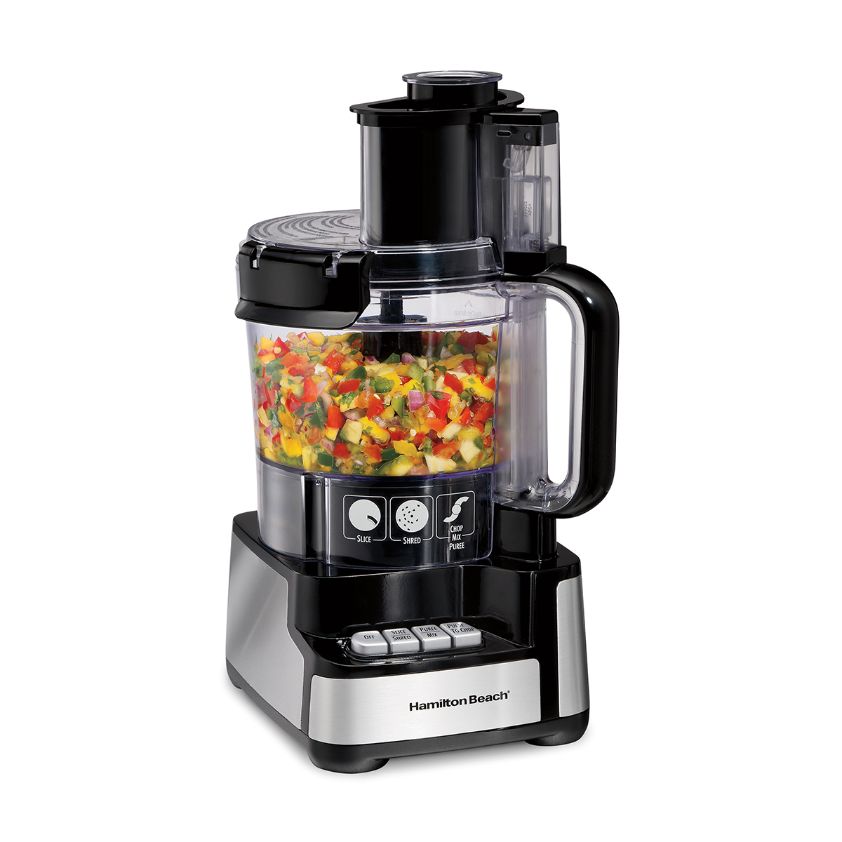 12 Cup Stack & Snap™ Food Processor, Black and Stainless (70728)