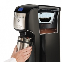 BrewStation 12 Cup Dispensing Coffee Maker No Carafe Coffee Maker Hamilton Beach