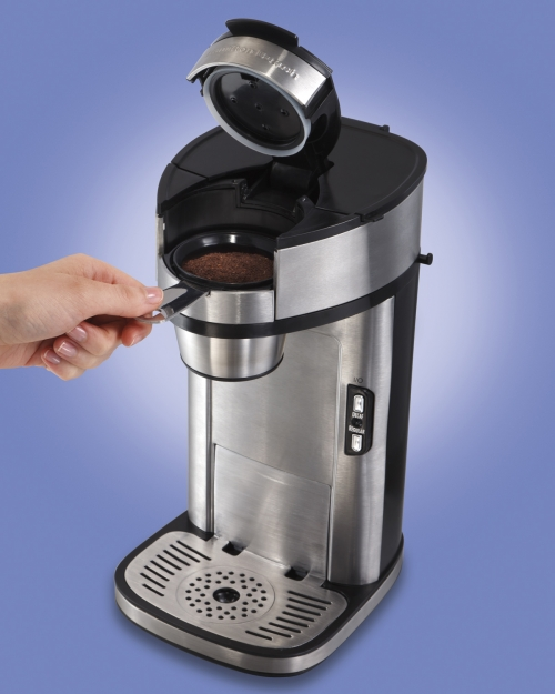 One Cup Coffee Maker K Cup : The Scoop Single-Cup Coffee Maker One Cup Coffee Maker Hamilton Beach