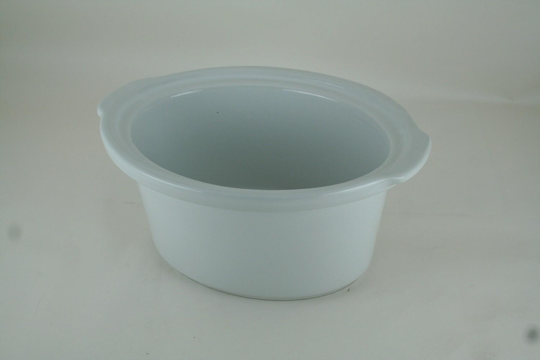 Crock-3.5/4 Qt, Oval, White