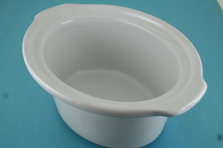Crock-2.5/3 Qt, Oval, White