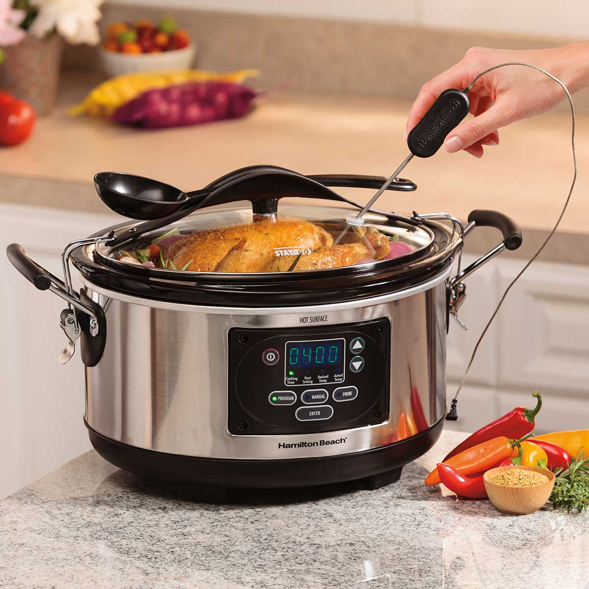 Set & Forget® 6 Qt. Programmable Slow Cooker With Spoon/Lid (33967)