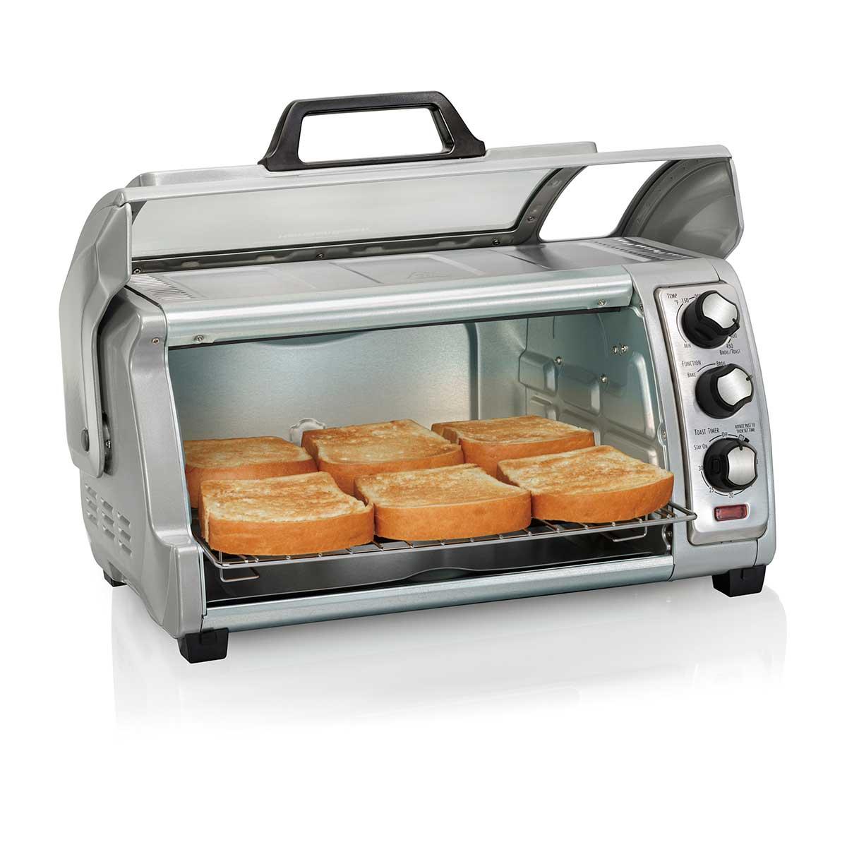 Hamilton Beach Easy Reach 174 Toaster Oven With Roll Top Door