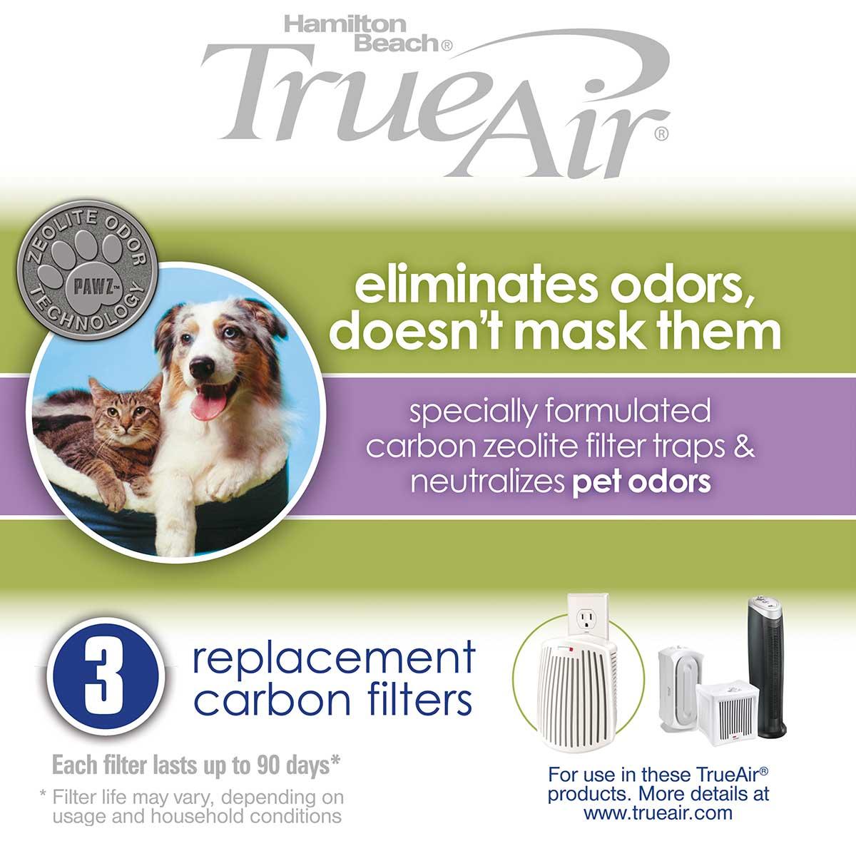 TrueAir® Replacement Air Filters 3-Pack for Pet Odors