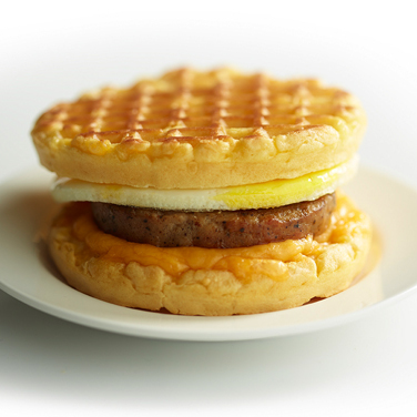 Sausage, Egg and Cheese Waffle Sandwich
