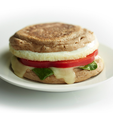 Recipe - Spinach and Mozzarella Egg White Breakfast Sandwich