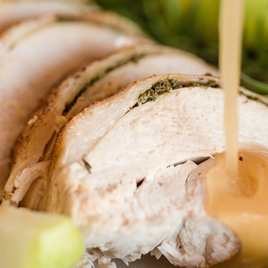 Apple Herb Roasted Turkey and Turkey Breast