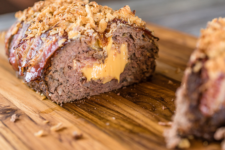 Slow Cooker Bacon Cheeseburger Meatloaf