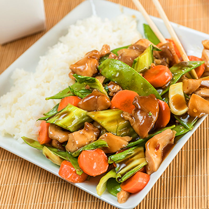 Slow Cooker Teriyaki Chicken with Vegetables and Rice