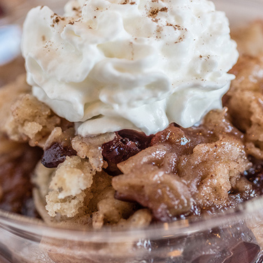 Slow Cooker Apple Cranberry Cobbler