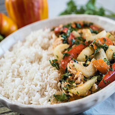Slow Cooker Coconut Thai Curry Chicken