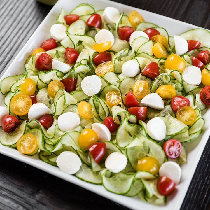 Recipe - Spiralizer Cucumber Caprese Salad