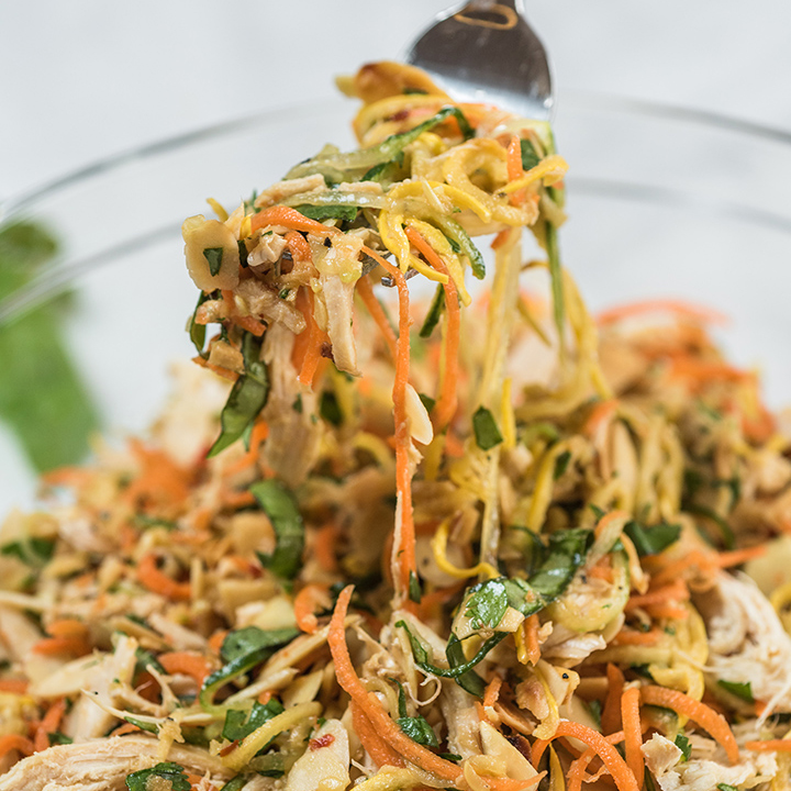 Spiralizer Thai Vegetable and Chicken Salad