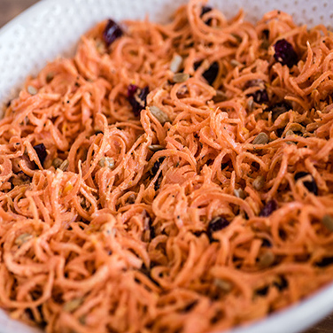 Spiralizer Orange Ginger Carrot Slaw