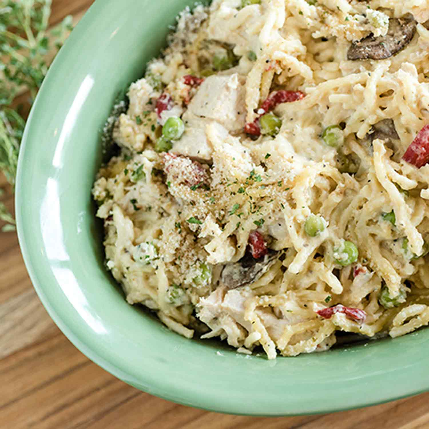 Slow Cooker Turkey Tetrazzini