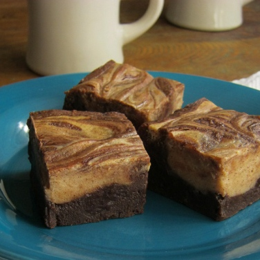 Cafe Mocha Marble Brownies