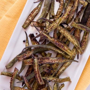 Cajun Roasted Okra