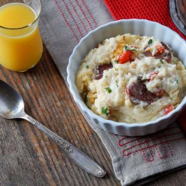 Recipe - Cajun Sausage and Grits Casserole
