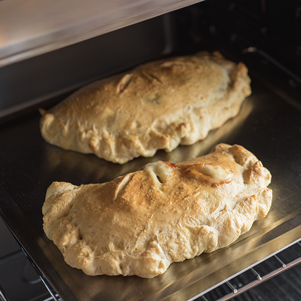 Quick & Easy Mushroom and Red Pepper Calzones