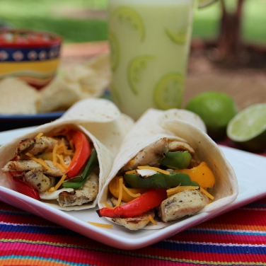 Chicken Fajitas With Grilled Peppers And Onions