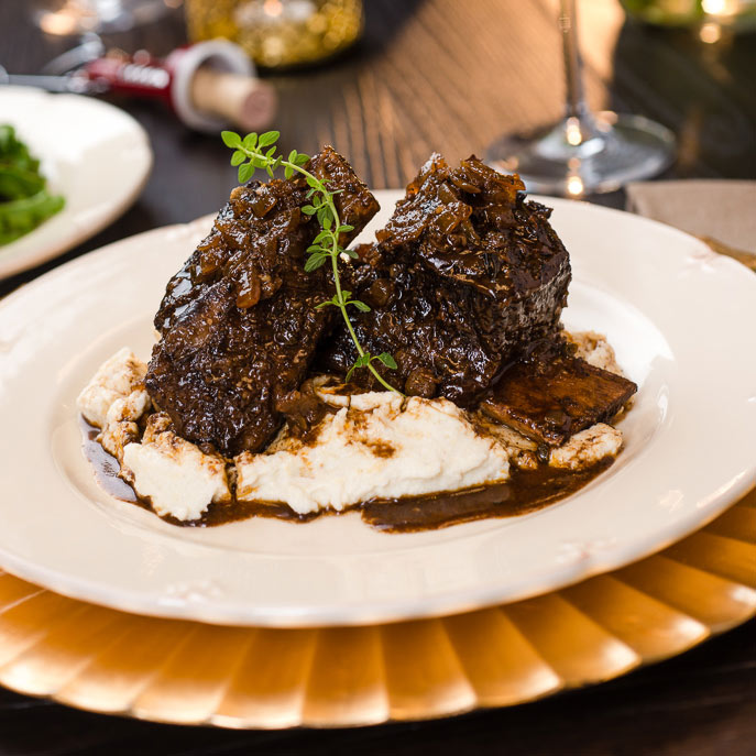 Slow Cooker Coffee Braised Short Ribs