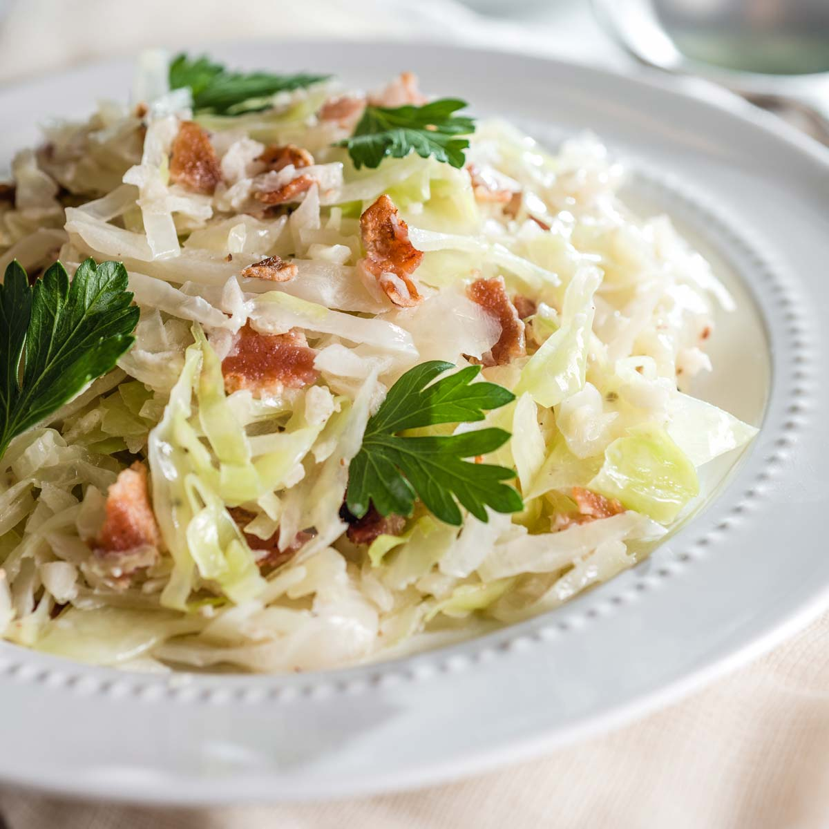 Creamed Cabbage with Bacon