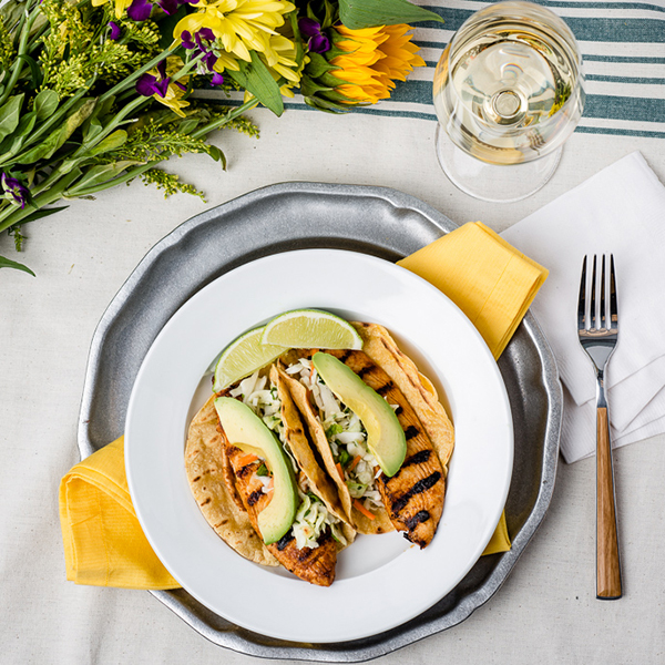 Grilled Fish Tacos with Jalapeno Slaw