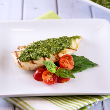 Grilled Chicken with Basil Pesto