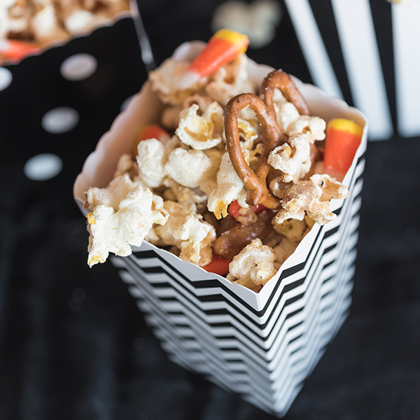 Caramel Candy Corn Popcorn Mix