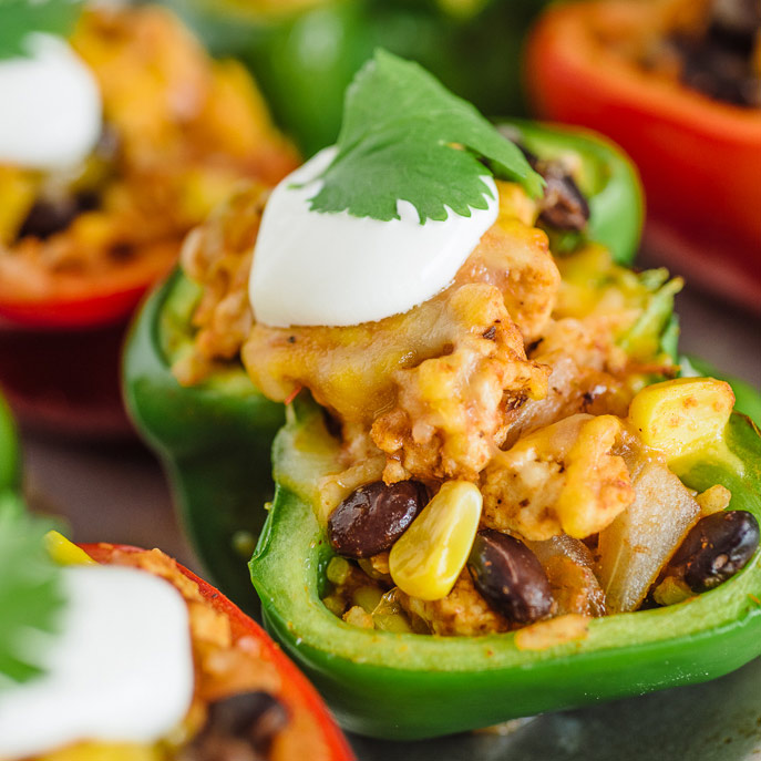 Healthy Southwest Stuffed Peppers