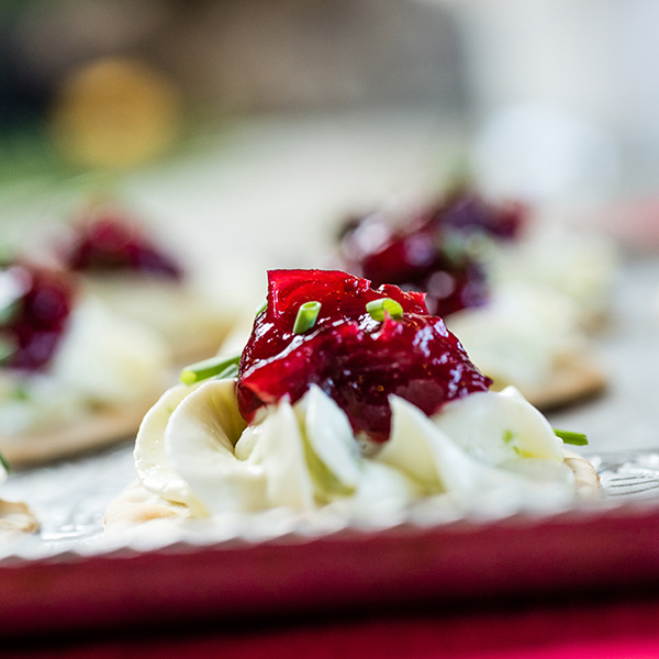 Jalapeno Cream Cheese and Cranberry Appetizers