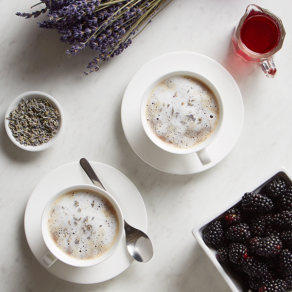lavender latte with cream