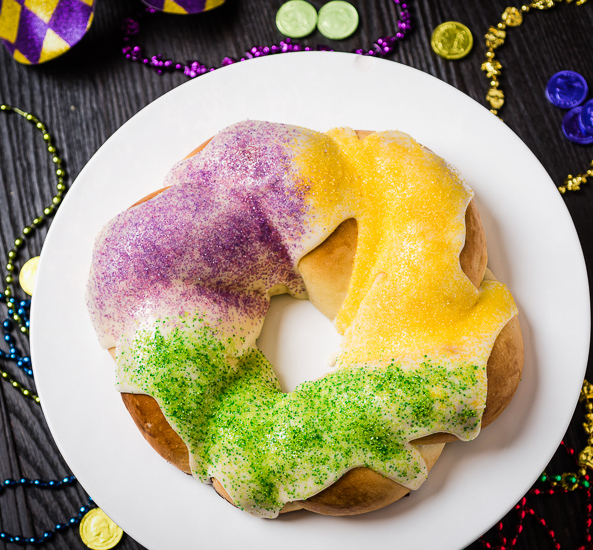Recipe - Mardi Gras King Cake