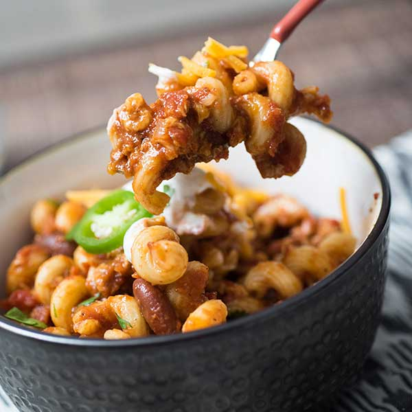 Multi-Cooker Chili Mac
